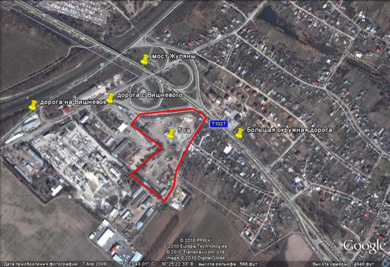 Продам земельный участок 5 га на Большой Окружной дороге.