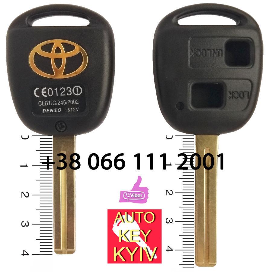 Ключ тойота, корпус ключа тойота, ключ тойота ленд крузер 100