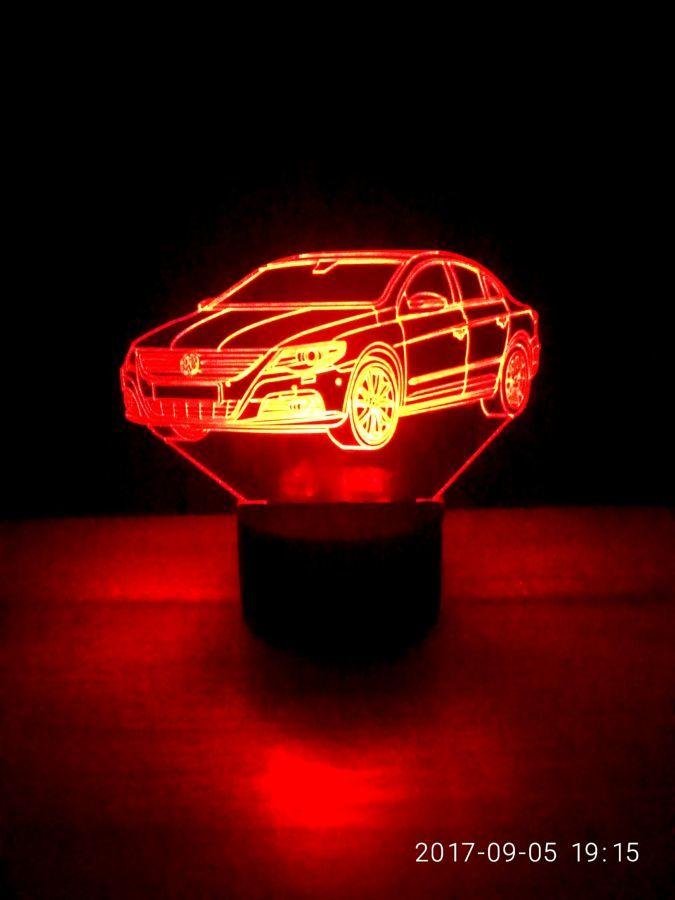 Ночник светильник Фольксваген, игрушка подарок для мужчины декор