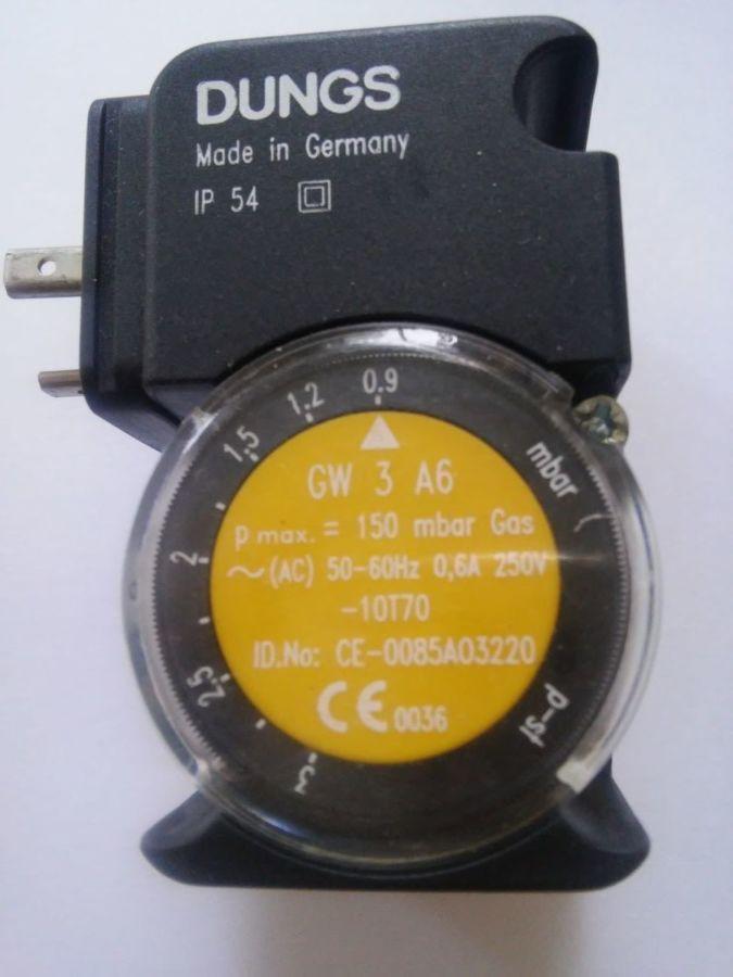 Датчик давления Dungs GW 3 A6