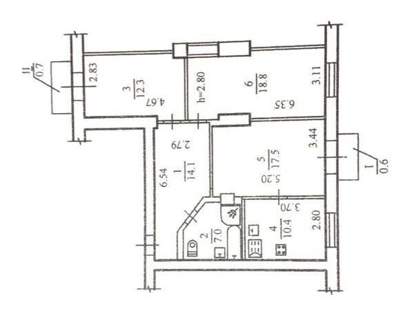 Продам просторную 3х ком. квартиру в самом центре!
