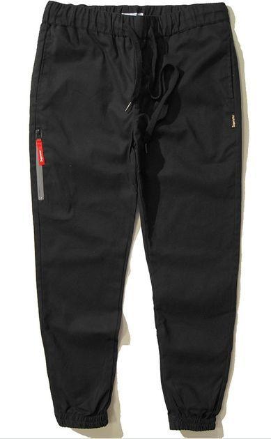 SUPREME джоггеры штаны брюки Jogger Pants чиносы цвет черный на шнурке 9fc3c43a82da5