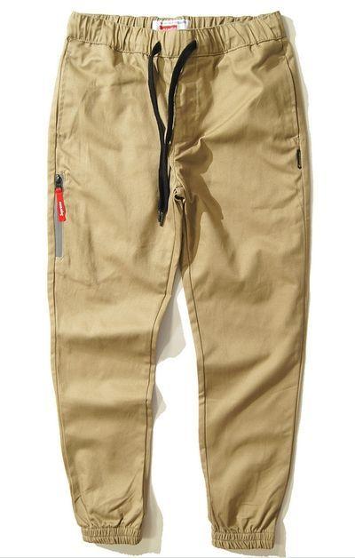 SUPREME джоггеры штаны брюки бежевые Jogger Pants чиносы на шнурке ... 6a197c53937de