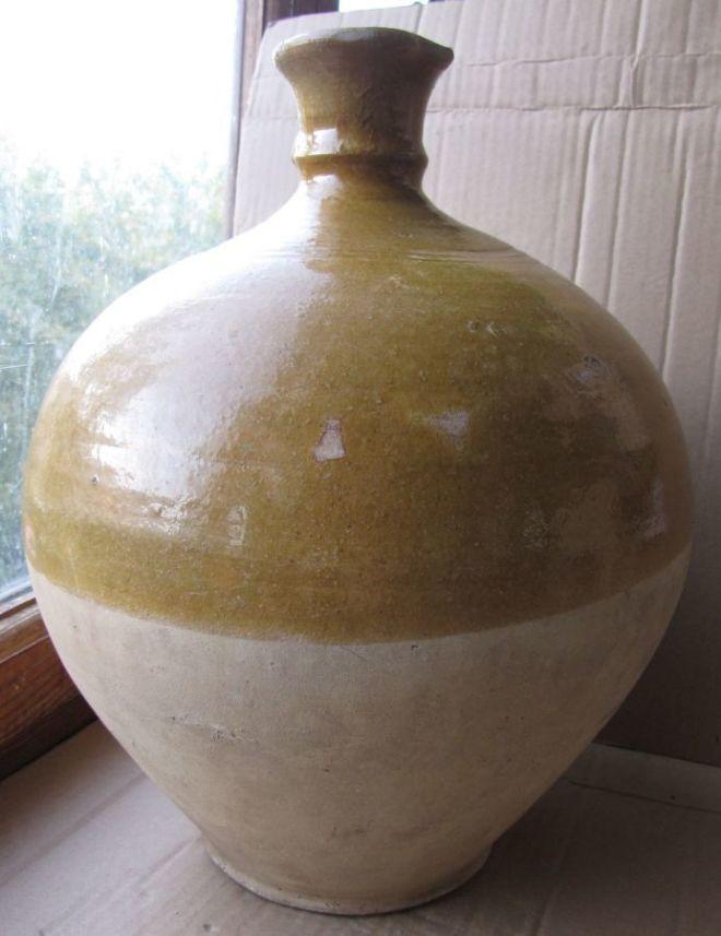 Большой керамический кувшин-амфора конца 19 века