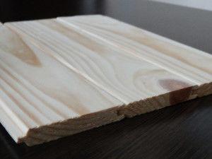 Вагонка (паз-гребень) двухсторонняя шлифованная из сосны.