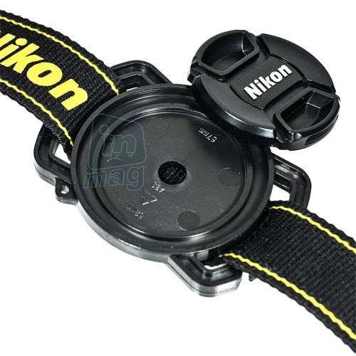 Держатель крышки объектива на ремень для Canon, Nikon, Pentax. Размеры