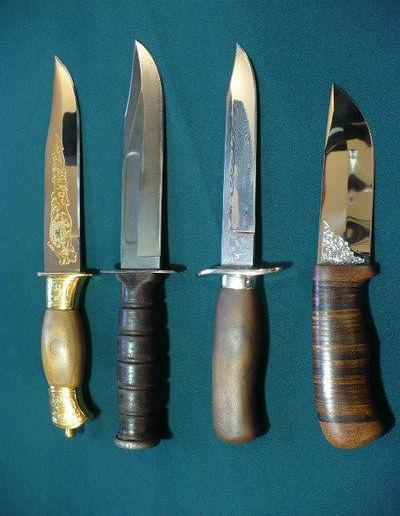 Ручная заточка охотничьих и других ножей любой сложности.