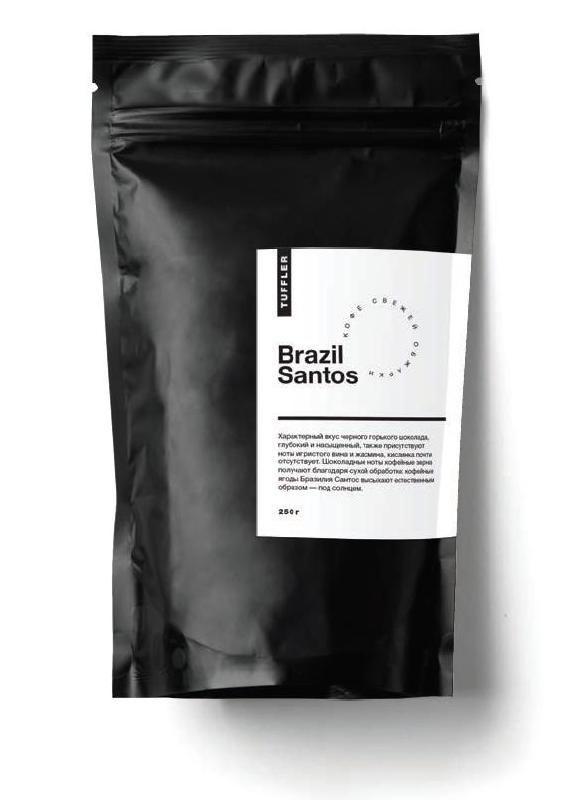 """Кофе в зернах """" TUFFLER BRAZIL SANTOS"""" 250 г."""