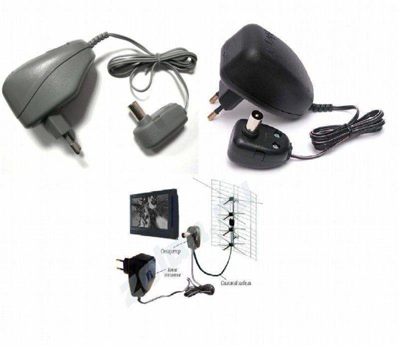 Блок питания телевизионной антенны, ТВ адаптер, 12V, сетевой адаптер