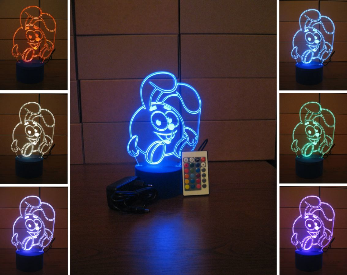 3d светильник (LED ночник) - Смешарики (Крош)  300 грн. - Тематичні ... bcf4af1401fb4