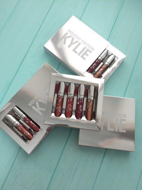 Набор Жидких Матовых Помад Kylie Holiday Edition 4 штуки