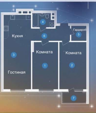 3-квартира, ул. Туманяна Ованеса 4, м. Левобережная 5 мин