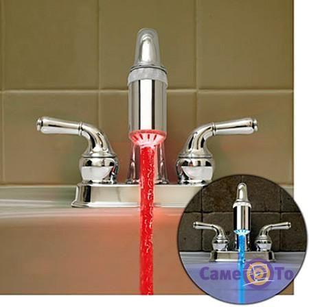 светодиодная насадка на кран glow water. Новый.