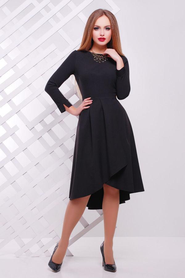 c1d0f594300 Купить сейчас - Платье ЛИКА Д Р черное платье с юбкой со складами на ...