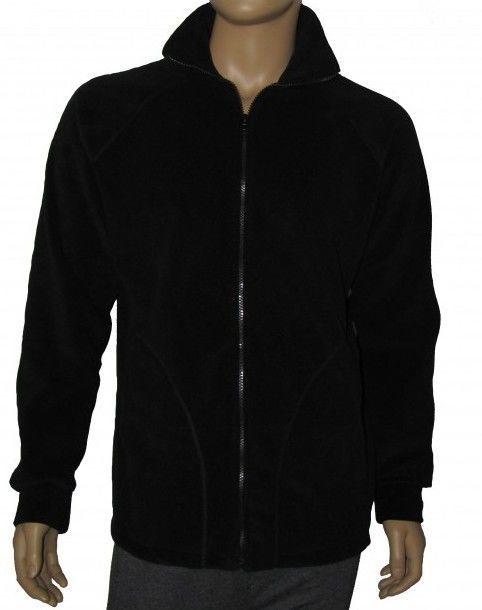 Куртки флис Черного цвета на молнии