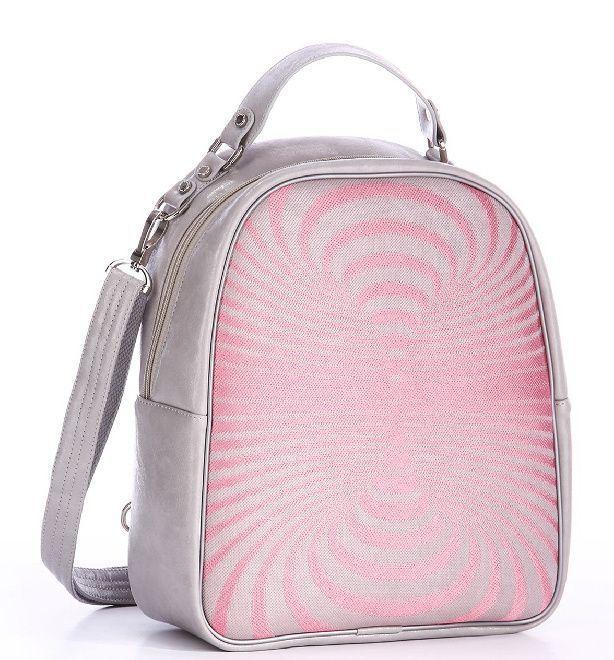 Женская серая с розовым повседневная сумка-рюкзак