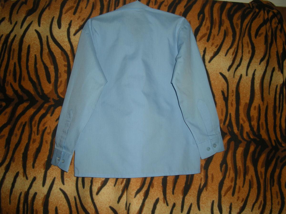 "Рубашка голубого цвета""banner"",71см.,р.28,65%пол-р,35%коттон."
