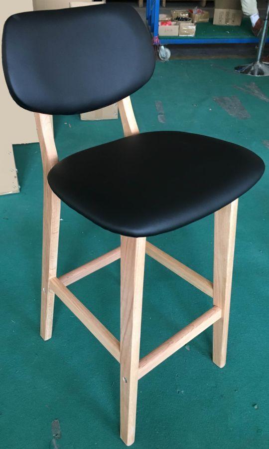 Полубарный стул Trento кожзам, H-65см.