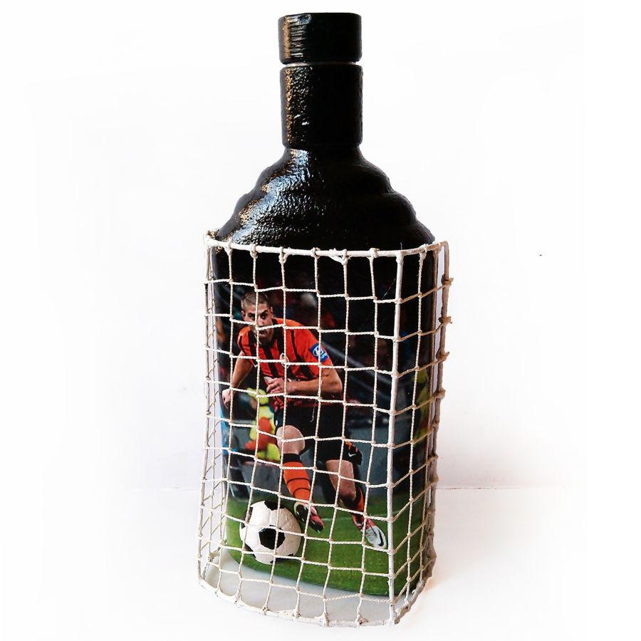 Декор бутылки футбольному фанату сувенир с логотипом фк шахтер