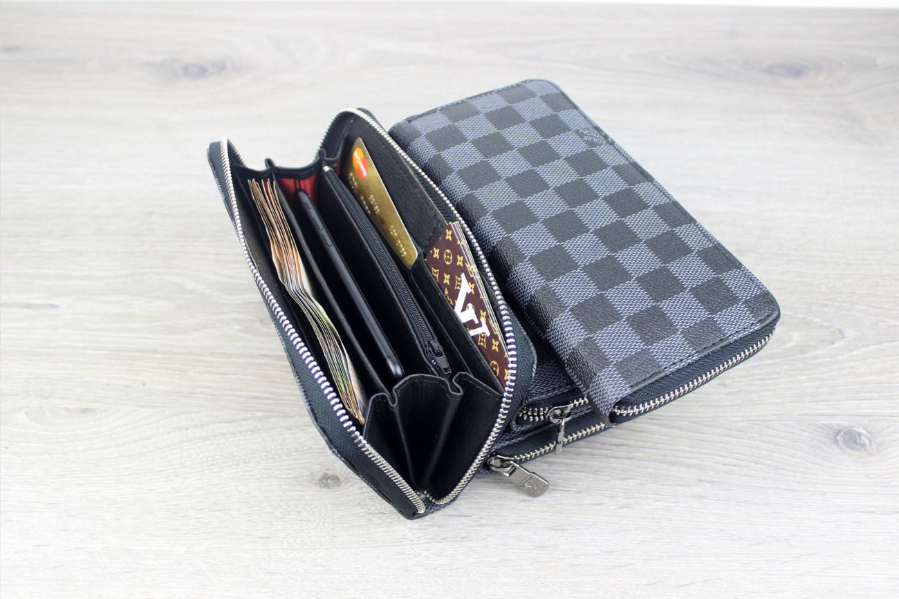 b0d04db3055c Купить сейчас - Кошелек (клатч) мужской Louis Vuitton серый: 265 грн ...