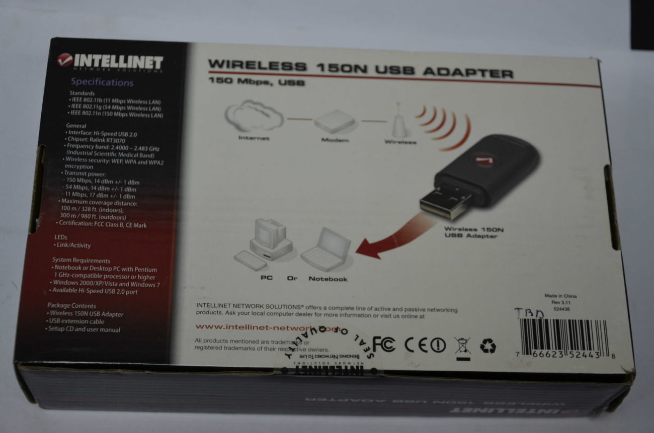 INTELLINET 150N USB ADAPTER DRIVERS FOR WINDOWS MAC