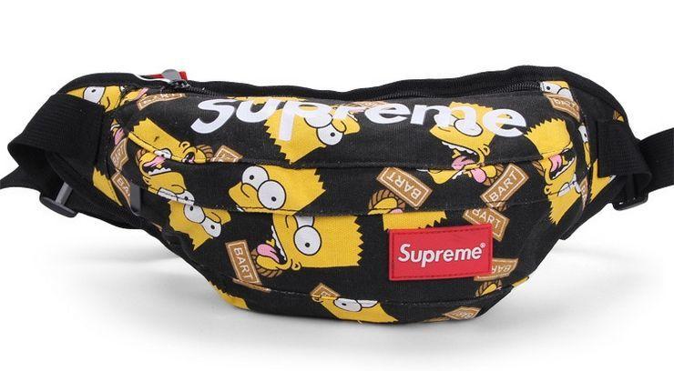 b037218e2dd0 Supreme поясная Simpson сумка на пояс бананка рюкзак косметичка клатч
