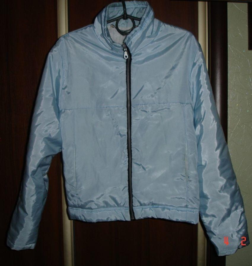 Куртка 44 р. молодіжна, світло-голуба, жіноча, утеплена синтепоном