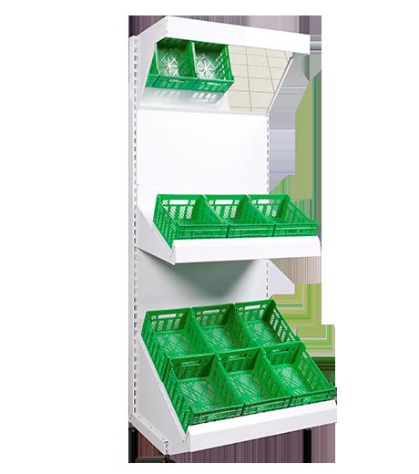 Стелаж овочевий приставний,стеллаж овощной приставной 1600*950 мм