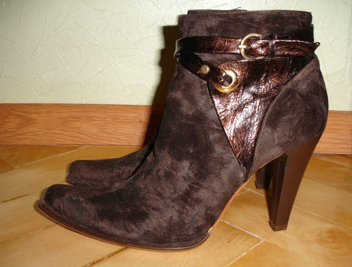 Сапоги чобітки жіночі 39 р. коричневі b55c9838128fd