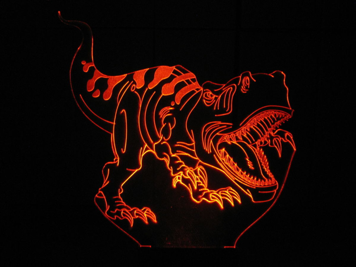 Тираннозавр, акриловый ночник светильник, лампа LED, динозавр, подарок