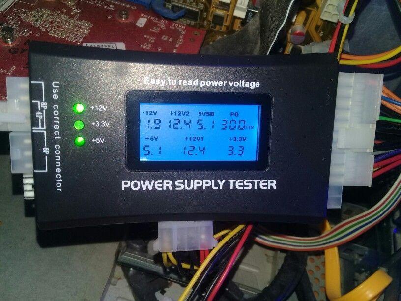 Тестер напряжения компьютерных блоков питания с LCD дисплеем