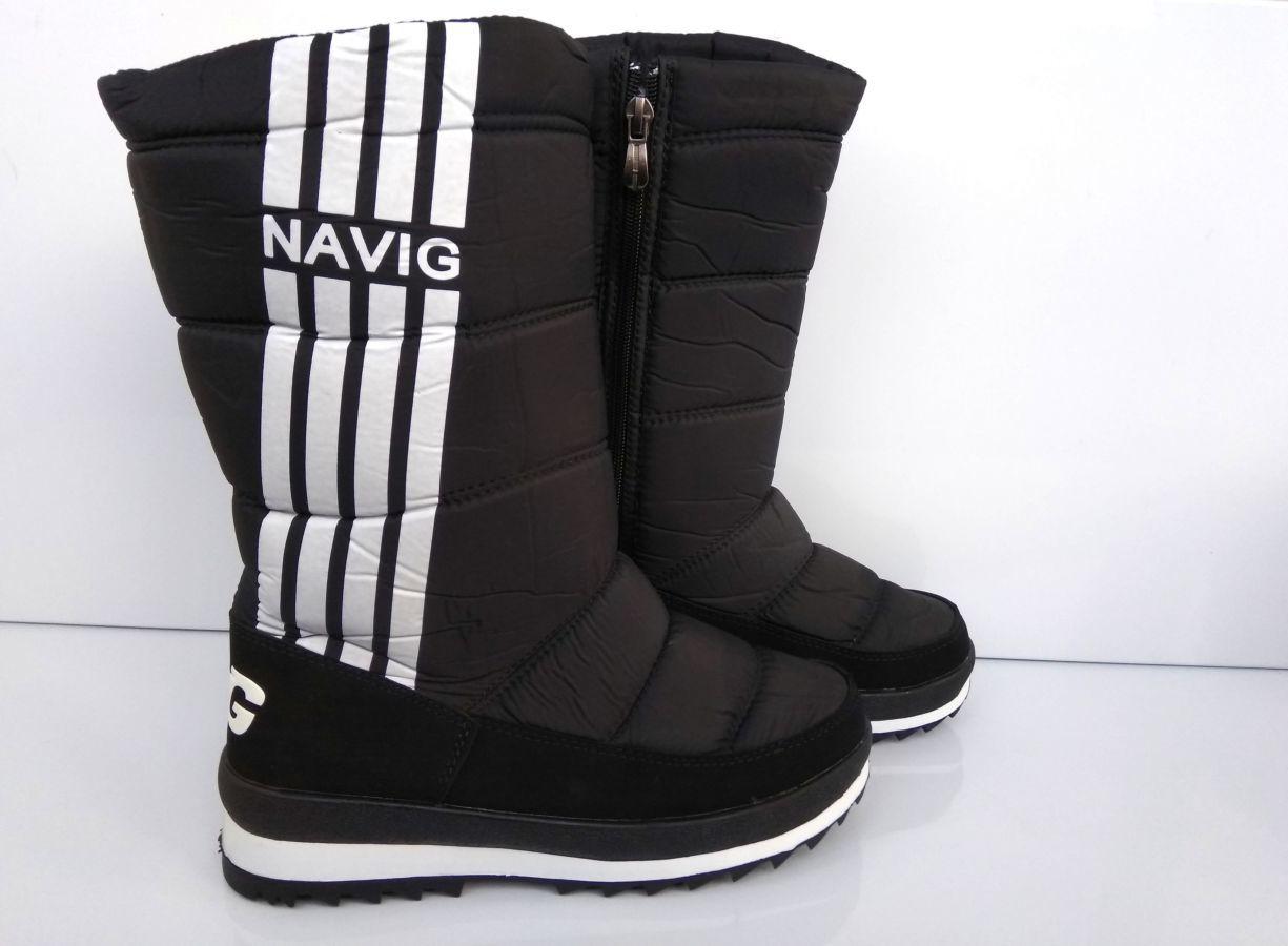 3196ee80de4fae Черные зимние сапоги дутики Navigator 36-41р: 345 грн. - Чоботи ...