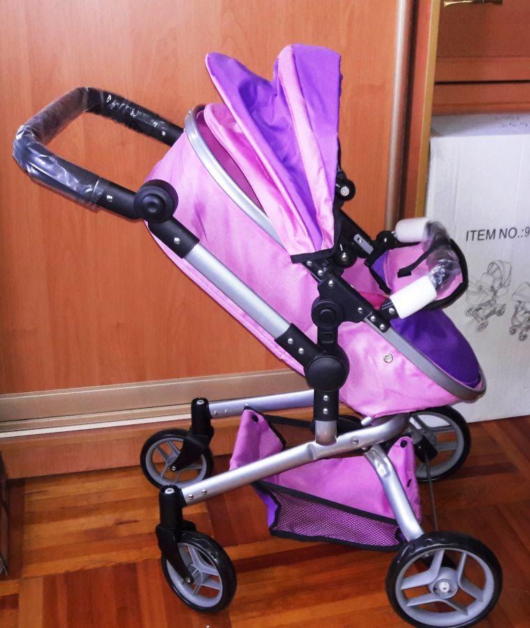 Коляска для кукол Мелого Melogo 9695 трансформер два цвета