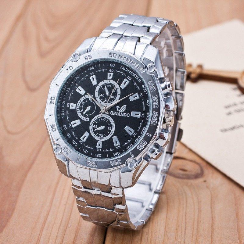 Мужские часы Orlando черный циферблат серебристые  160 грн ... a94e6ecc367