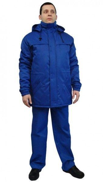 Куртка утепленная на флисе, цвет василек