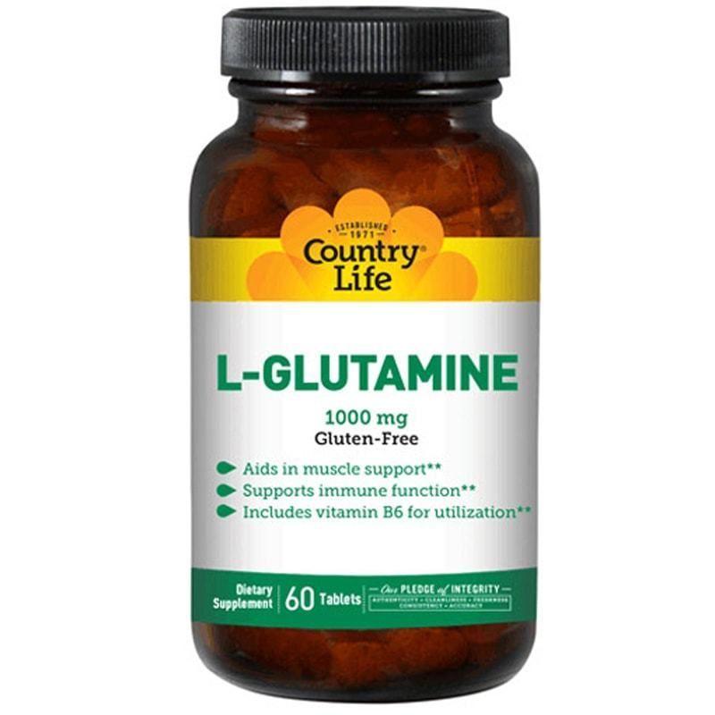 Аминокислоты COUNTRY LIFE (США) L-GLUTAMINE (L-глютамин) 60таб