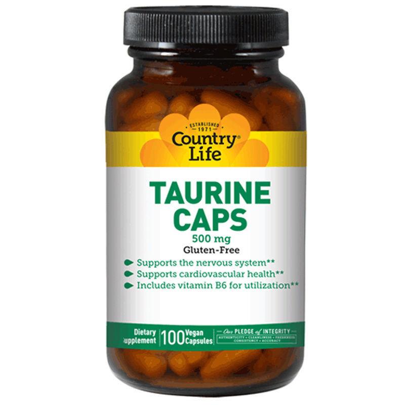Продукт спортивного питания COUNTRY LIFE (США) TAURINE (Таурин) 100 та