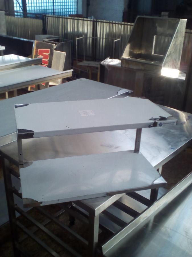Полиця навісна із нержавіючої сталі