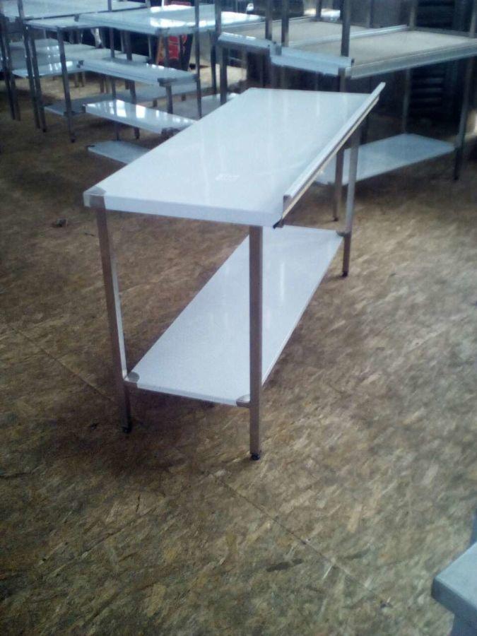 Столы из нержавейки для магазина, супермаркета разделочные 1800*700