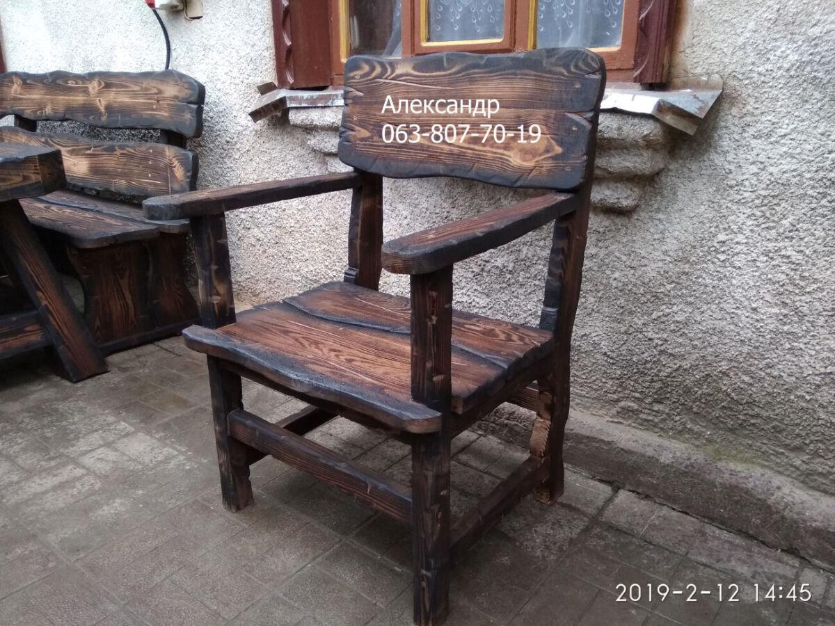 Кресло из дерева под старину ( кресла деревянные )