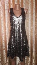 Новое женское вечернее, коктейльное платье в пайетках midnight glam ho