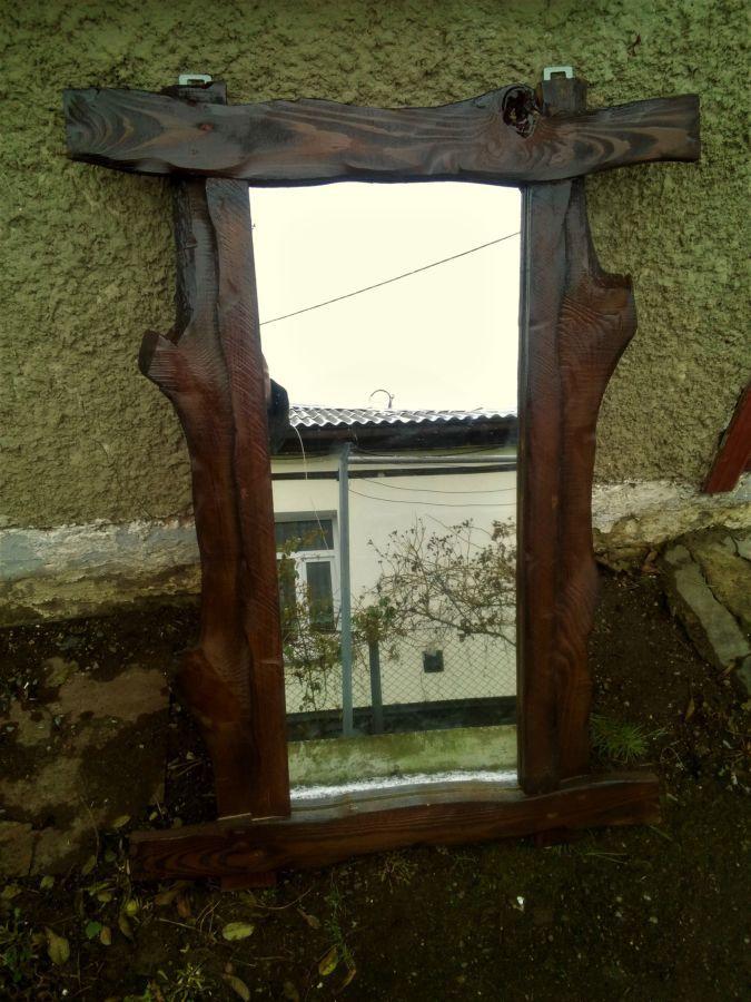деревянная рамка для зеркала зеркало рама под старину в баню