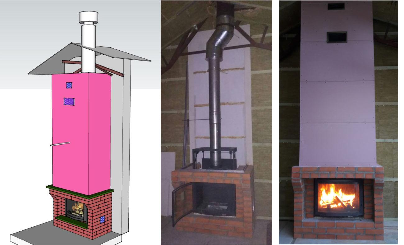 Сборка установка каминов дымоход для частного дома купить