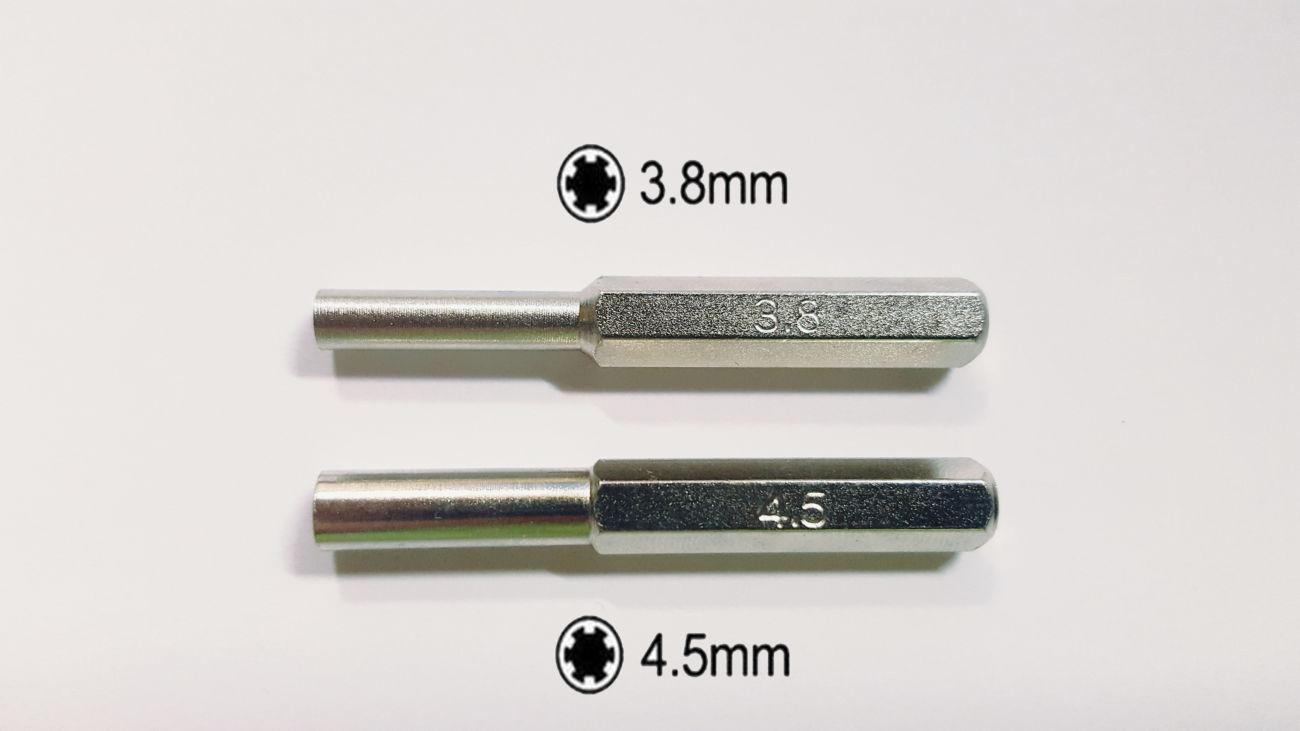 Биты отвертки для Nintendo, набор бит (3.8 мм/4.5 мм)