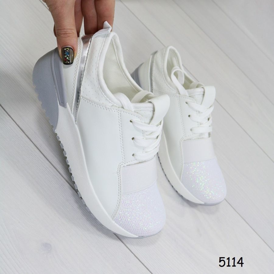 9dfa5cd6a1d1 Кроссовки женские эко кожа и текстиль цвет белый  505 грн ...