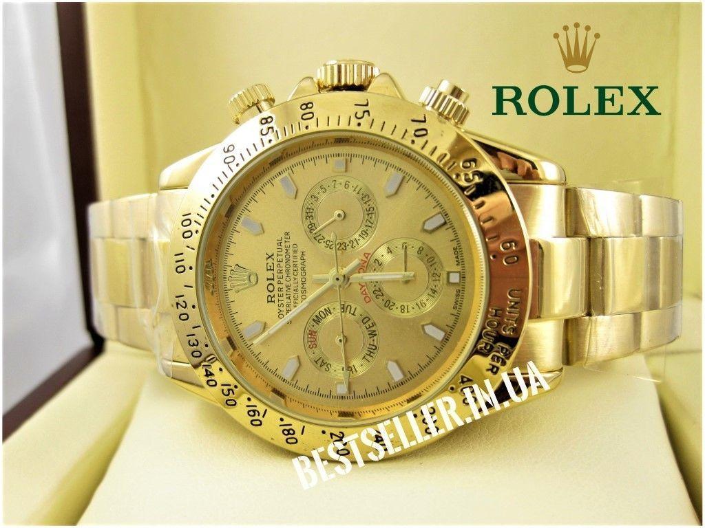 Часы ROLEX Daytona Gold (механика). качество! Гарантия 6 месяцев!  1 ... 8368b2e7e5c2f