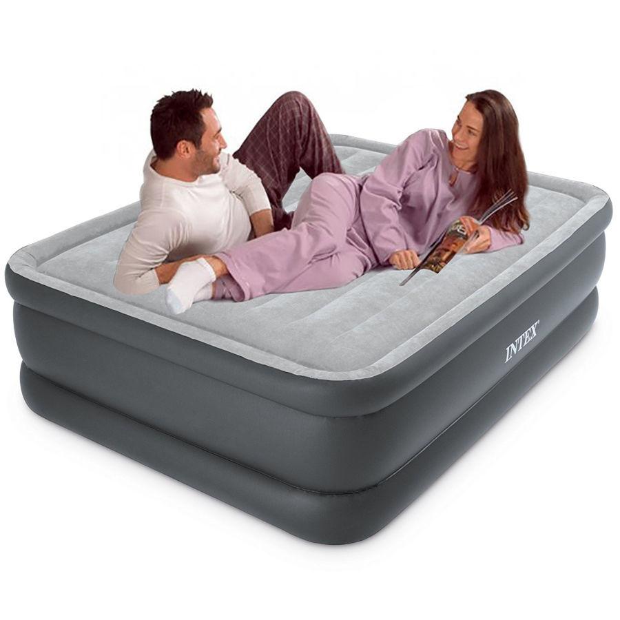 Intex 64140 надувная кровать с электронасосом высотой 51 см