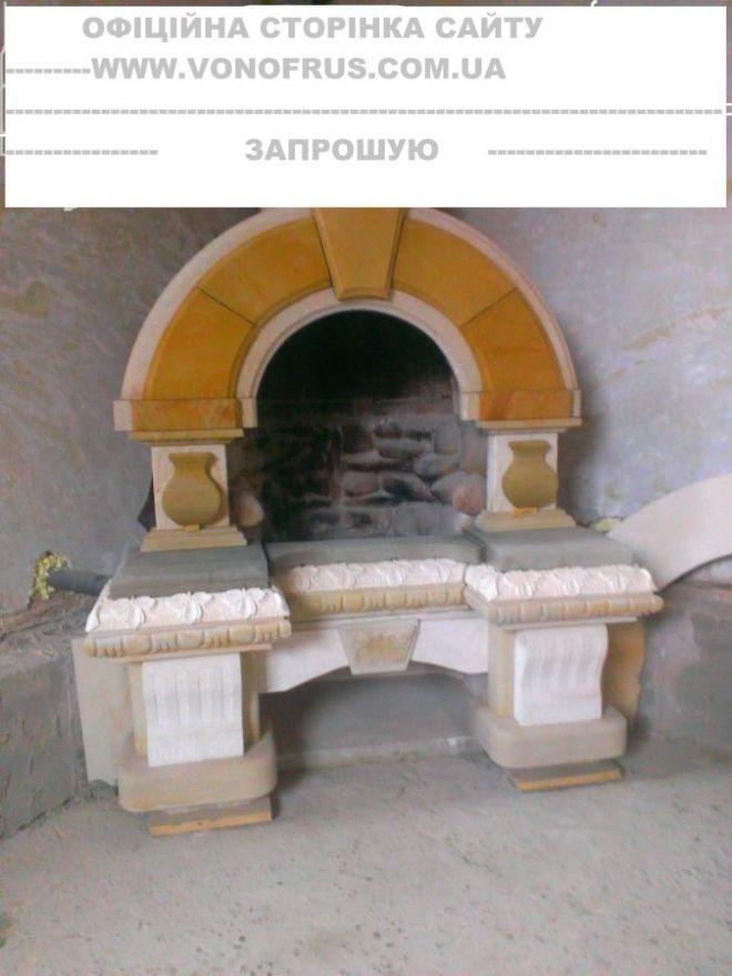 Каміни,портали,памятники,фонтани,скульптури інше.Різьблення по каменю.
