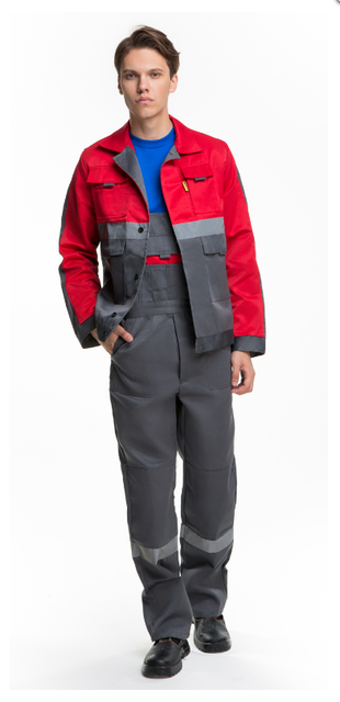 Рабочий костюм с красной кокеткой  515 грн. - Спецодяг і спецвзуття ... a8129024d08a3