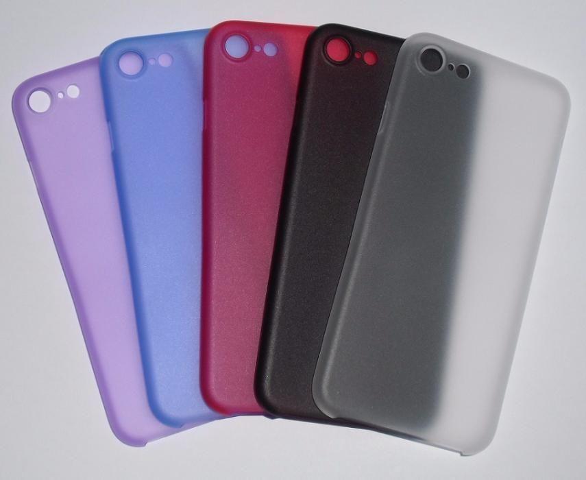 Чехол для Apple iPhone 7 черный белый ультратонкий + пленки глянец мат